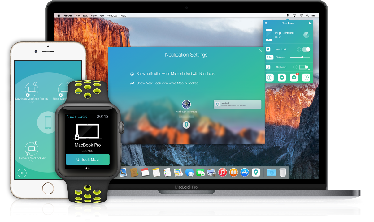 Near Lock - Lock and unlock your Mac with your iPhone